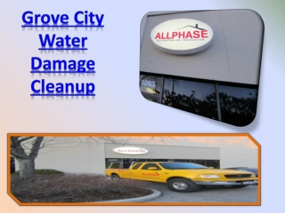 Grove City Water Damage Cleanup