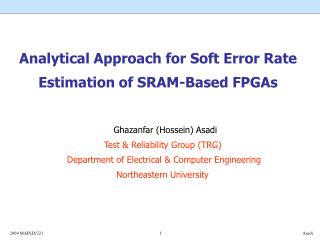 Analytical Approach for Soft Error Rate Estimation of SRAM-Based ...