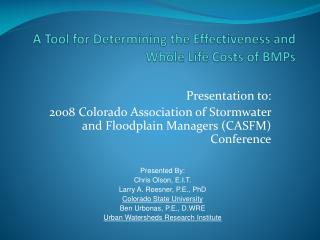 Presentation - Colorado State University