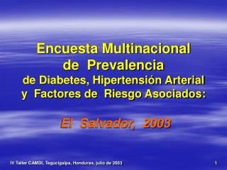 Encuesta Multinacional de Prevalencia de Diabetes ...