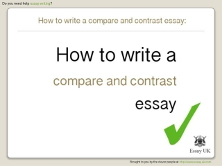 How To Write A Compare And Contrast Essay | Essay Writing