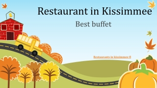 Restaurants in kissimmee fl