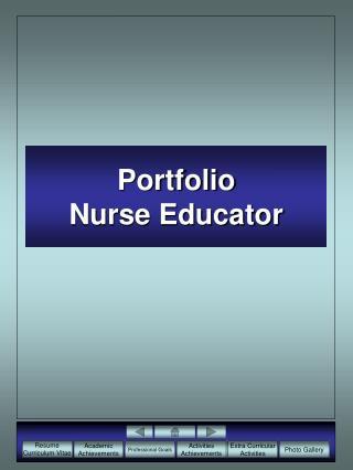 Portfolio Nurse Educator