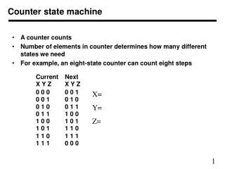 Counter state machine