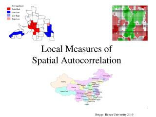 Local Measures of Spatial Autocorrelation