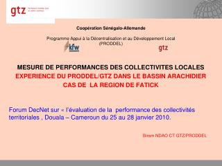 Coop ration S n galo-Allemande  Programme Appui   la D centralisation et au D veloppement Local PRODDEL