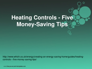 Heating Controls - Five Money-Saving Tips