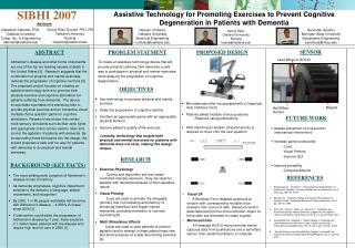 Assistive Technology for Promoting Exercises to Prevent Cognitive Degeneration in Patients with Dementia