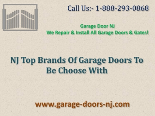 NJ Top Brands Of Garage Doors To Be Choose With