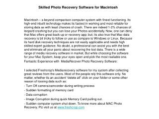skilled photo recovery software for macintosh