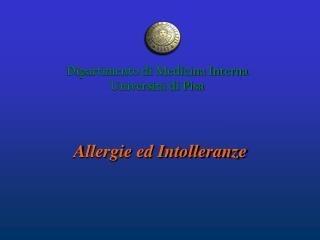 Allergi e e Intolleranz e con Celiachia