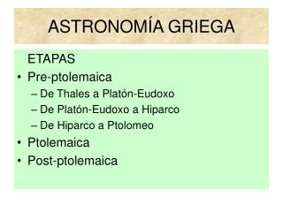 ASTRONOM A GRIEGA