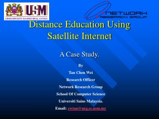 Distance Education Using Satellite Internet