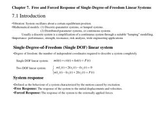 Chapter 7.  Free and Forced Response of Single-Degree-of-Freedom Linear Systems