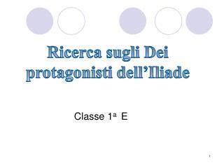 Classe 1a  E