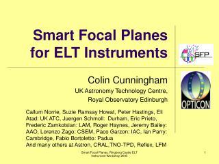 Smart Focal Planes for ELT Instruments