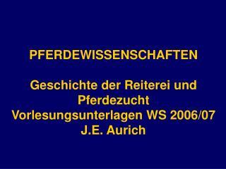 PFERDEWISSENSCHAFTEN Geschichte der Reiterei und Pferdezucht ...