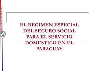 El regimen especial del seguro social para - OIT