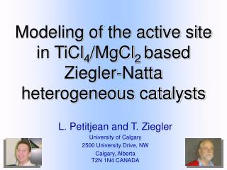 Modeling of the active site in TiCl 4 MgCl 2 based Ziegler ...