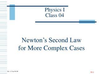 Physics I Class 04