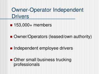 Owner-Operator Independent Drivers