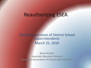Reauthorizing ESEA