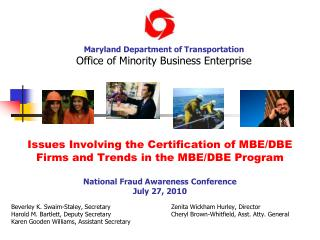 Issues Involving the Certification of MBEDBE Firms and Trends in ...