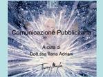 Comunicazione Pubblicitaria