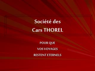Soci t  des Cars THOREL