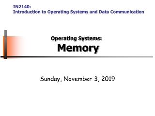 Managing Memory
