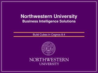 Northwestern University Business Intelligence Solutions