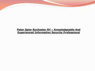 peter spier rochester