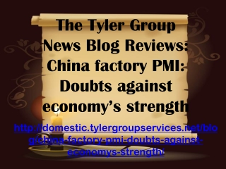 The Tyler Group News Blog Reviews: China factory PMI: Doubts