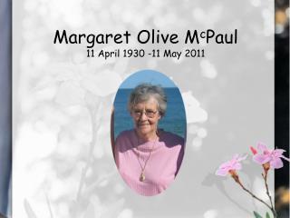 margaret mcpaul - funeral