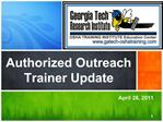 Authorized Outreach Trainer Update