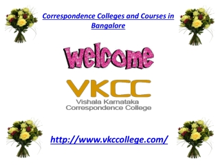 Corresponding Colleges and Courses in Bangalore
