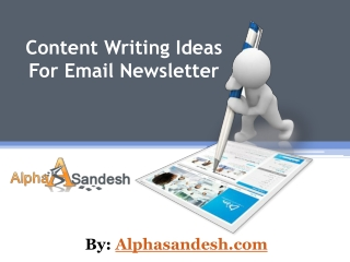 Content Writing Ideas For Email Newsletter