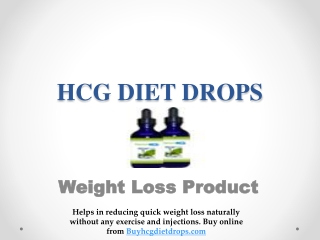 Easy Weight loss with HCG Diet Drops