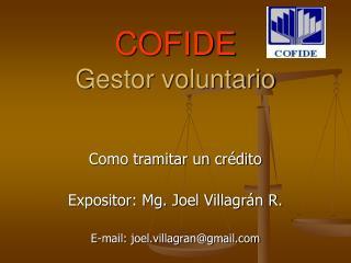 COFIDE Gestor voluntario