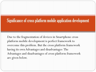 Significance of cross platform mobile application developmen