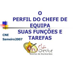 O PERFIL DO CHEFE DE EQUIPA SUAS FUN