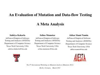 An Evaluation of Mutation and Data-flow Testing A Meta ...