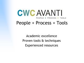People  Process  Tools