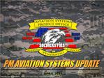PM Aviation Systems Mission Overview