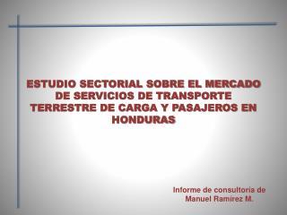 ESTUDIO SECTORIAL SOBRE EL MERCADO DE SERVICIOS DE TRANSPORTE ...