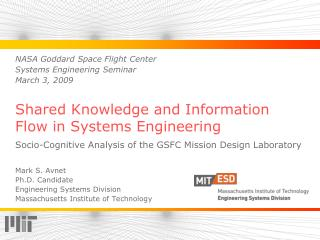 Shared Knowledge and Information Flow in Systems Engineering