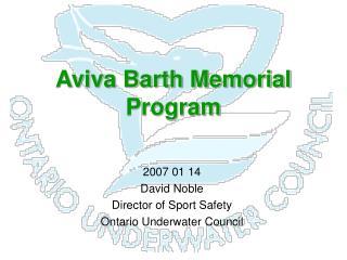Aviva Barth Memorial Program