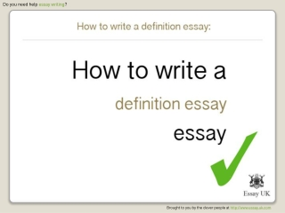 How to write a definition essay | Essay writing