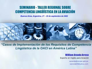 SEMINARIO - TALLER REGIONAL SOBRE COMPETENCIA LING