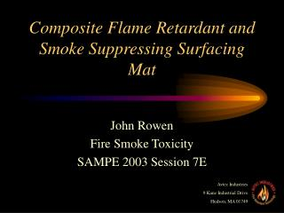 Composite Flame Retardant and Smoke Suppressing Surfacing Mat